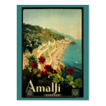 Vintage Reise, italienischer Küsten-Strand Amalfis