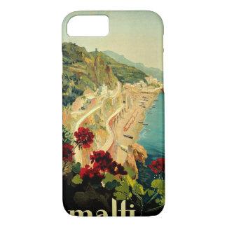 Vintage Reise, italienischer Küsten-Strand Amalfis iPhone 8/7 Hülle