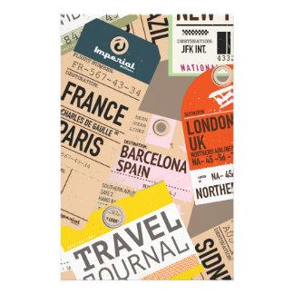 Vintage Reise-Karten Büropapier