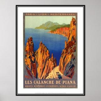 Vintage Reise Korsika - Plakate