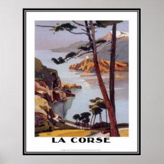 Vintage Reise Korsika - Poster