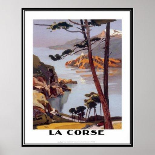 Vintage Reise Korsika - Posterdrucke