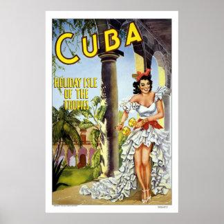 Vintage Reise Kubas Plakatdruck