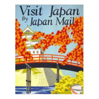 Vintage Reise-Kunst Besuchs-Japans Postkarte