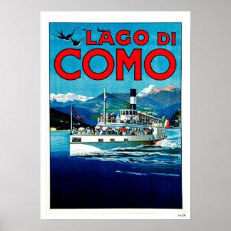 Vintage Reise Lago di Como Lake Italien Poster