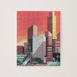 Vintage Reise Los Angeles Puzzle