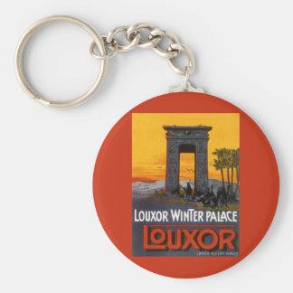 Vintage Reise, Louxor Winter-Palast, Ägypten Schlüsselanhänger