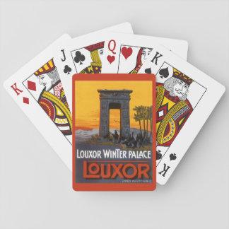 Vintage Reise, Louxor Winter-Palast, Ägypten Spielkarten