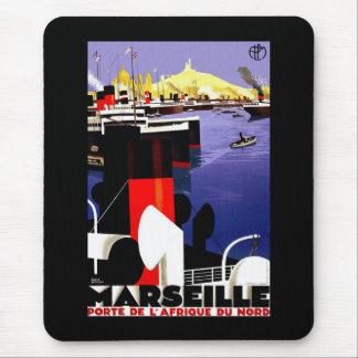 Vintage Reise Marseilles, Frankreich Mousepad