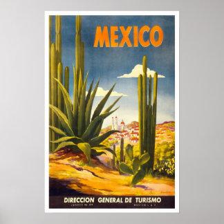 Vintage Reise, Mexiko Poster