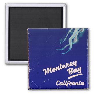 Vintage Reise Monterey-Bucht-Kalifornien-Gelees Quadratischer Magnet