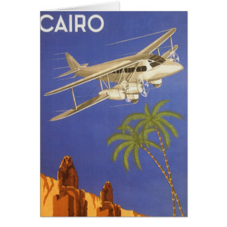 Vintage Reise nach Kairo, Eygpt, Karte