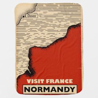 Vintage Reise nach Normandie, Frankreich Puckdecke