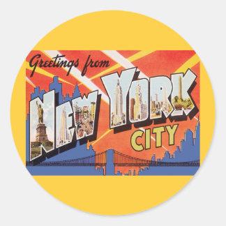 Vintage Reise New York City Runder Sticker