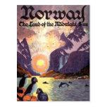 Vintage Reise, Norwegen-Fjord-Land von Postkarten