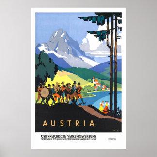 Vintage Reise, Österreich Posterdruck