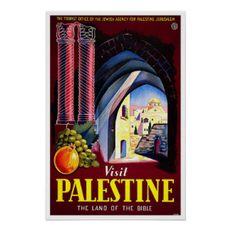 Vintage Reise, Palästina Poster