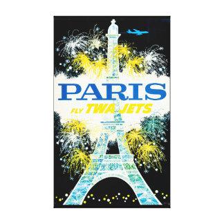 Vintage Reise Paris Frankreich Leinwanddruck