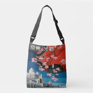 Vintage Reise-Plakat-Taschen-Tasche Dreißigerjahre Tragetaschen Mit Langen Trägern