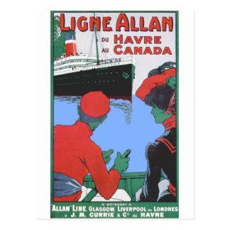 Vintage Reise-Plakate: Allan-Linie Glasgow London Postkarte