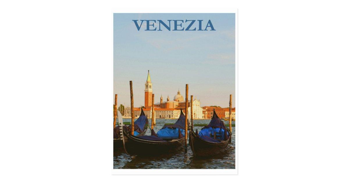 Vintage Reise-Postkarte Italiens Venedig Postkarte   Zazzle.de