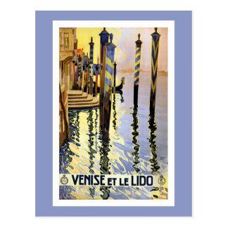 Vintage Reise-Postkarte Venedigs Italien Postkarte