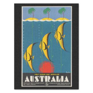 Vintage Reise-Riff-Fische Queensland Australien Seidenpapier