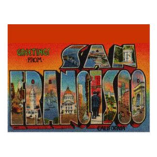 Vintage Reise San Francisco Postkarte