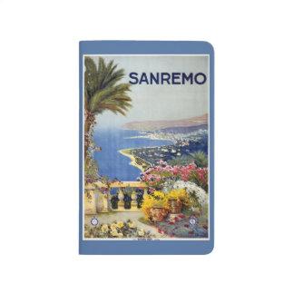 Vintage Reise Sanremo Italien Taschenzeitschrift Taschennotizbuch