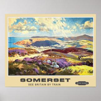 Vintage Reise, Somerset Poster