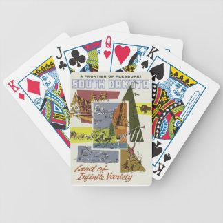 Vintage Reise South Dakota USA Bicycle Spielkarten
