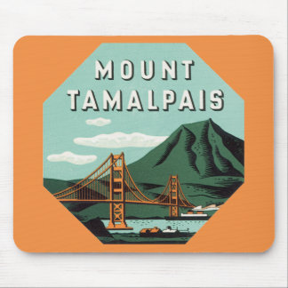 Vintage Reise, Tamalpais Berg oder Berg Tam Mauspad