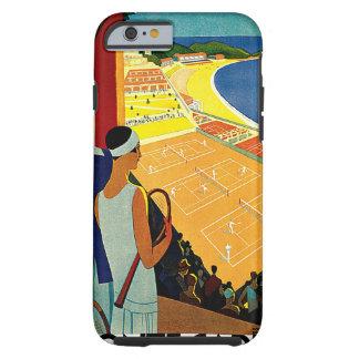 Vintage Reise, Tennis, Sport, Monte Carlo Monaco Tough iPhone 6 Hülle