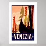 Vintage Reise Venedigs Italien Plakatdrucke