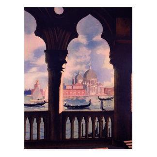 Vintage Reise Venedigs Italien Postkarte