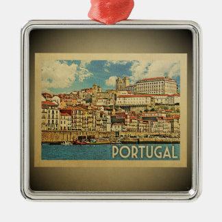 Vintage Reise-Verzierung Portugals Silbernes Ornament