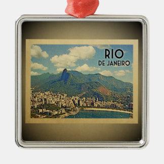 Vintage Reise-Verzierung Rio de Janeiro Brasilien Silbernes Ornament