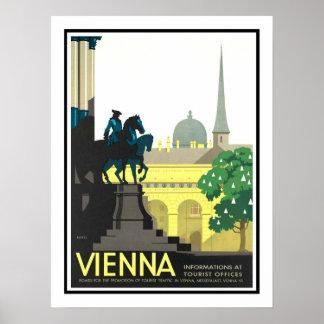 Vintage Reise Wiens Poster
