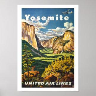 Vintage Reise Yosemite Plakat