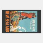 Vintage Reiseaufkleber Neuseelands Rechteckiger Aufkleber