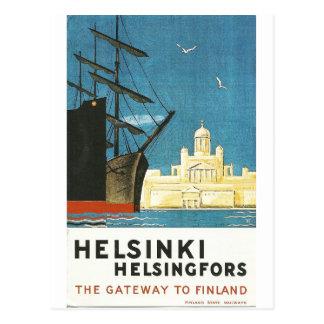 Vintage Reisepostkarte Helsinkis, Finnland Postkarte