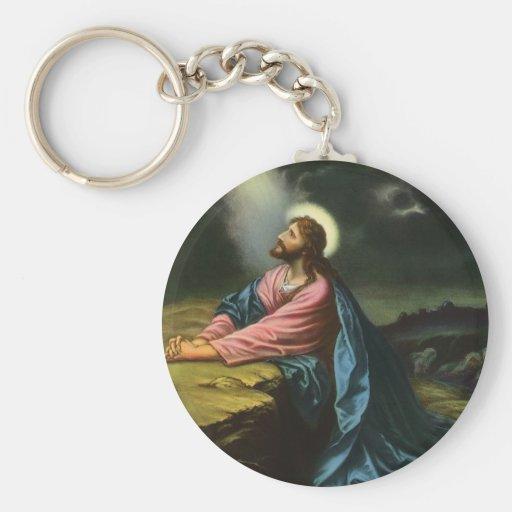 Vintage Religion, Jesus betender Christus, Gethsem Schlüsselanhänger