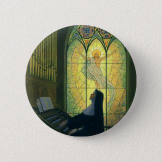 Vintage Religion, Nonne, die ein Organ in der Runder Button 5,7 Cm
