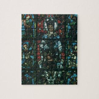 Vintage religiöse Kirchen-beflecktes Glasfenster Puzzle