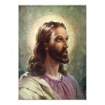 Vintage religiöse Leute, Porträt von Jesus Einladung