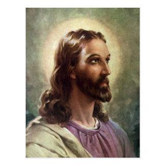 Vintage religiöse Leute, Porträt von Jesus Postkarte