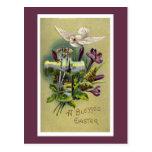 Vintage religiöse Osternquergruß-Karte Postkarten