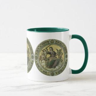 Vintage Renaissance-Kunst, Gerechtigkeit durch Tasse