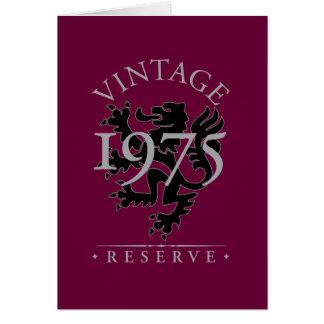 Vintage Reserve 1975 Karte