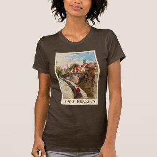 Vintage retro Art Brügge-Reiseanzeige T-Shirt